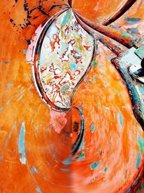 Graffiti, Bschoeni, Orange, Abstrakt