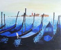 Venedig, Hafen, Blau, Meer