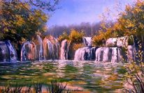 Kunstwerk, Natur, Wasserfall, Werkstatt