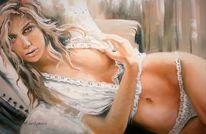 Zeichnung, Malerei, Frau, Morgen