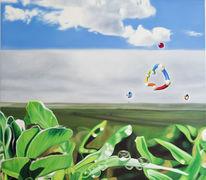 Grün, Ölmalerei, Malerei, Wolken