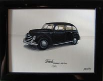 Ford, Auto, Oldtimer, Malerei