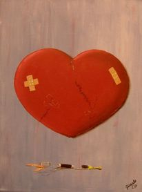 Schmerz, Herz, Erfahrung, Malerei