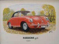 Oldtimer, Porsche, Auto, Malerei