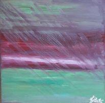 Grün, Horizont, Rot, Ölmalerei