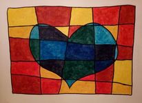 Farbenlehre grundschule, Herztemperaturen, Pastellkreiden, Zeichnungen