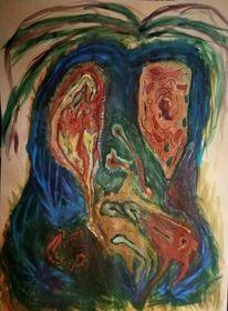 Zelle, Schöpfung, Acrylmalerei, Rausch