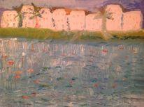 Reflexion, Die see, Morgensonne, Ölmalerei