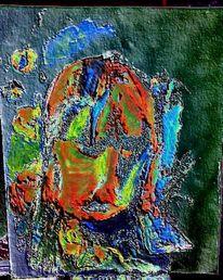 Expressionismus, Digital, Portrait, Mischtechnik