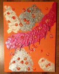 Acrylmalerei, Nimmersatt, Freude, Struktur