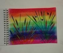 Insel, Grün, Muster, Regenbogen