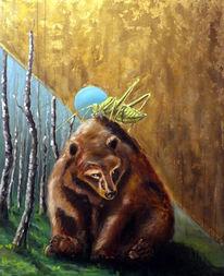 Malerei, Figural, Licht, Wald