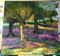 Landschaft, Ölmalerei, Olivenbaum, Toskana