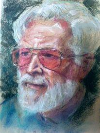 Rosarote brille, Zeichnung, Portrait, Skizze