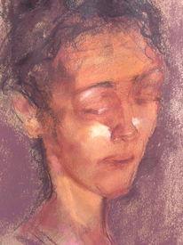 Pastellmalerei, Zeichnung, Portrait, Zeichnungen