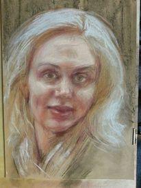Zeichnung, Pastellmalerei, Portrait, Zeichnungen
