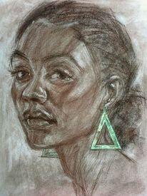 Zeichnung, Portrait, Zeichnungen, Mädchen