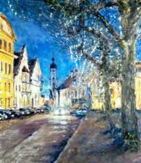 Altstadt, Abend, Licht, Malerei
