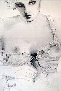 Figural, Frau, Portrait, Bluse