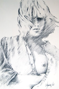 Mädchen, Frau, Figural, Bluse