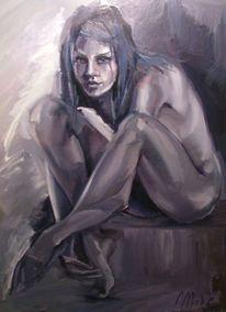 Frau, Portrait, Natur, Malerei