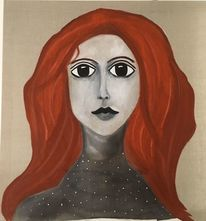 Portrait, Haare, Göttin cliodna, Frau