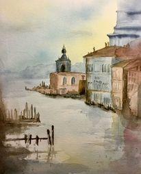 Grande, Aquarellmalerei, Venedig, Canale
