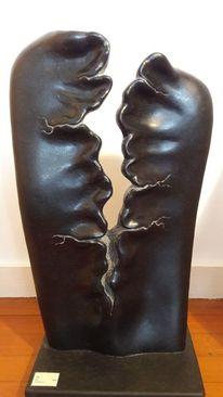 Skulptur, Riss, Naturstein, Eisen