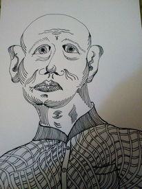 Zeichnung, Mann, Denken, Zeichnungen