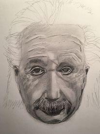 Bleistiftzeichnung, Albert einstein, Skizze, Zeichnungen