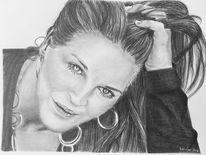 Portrait, Bleistiftzeichnung, Frau, Zeichnungen