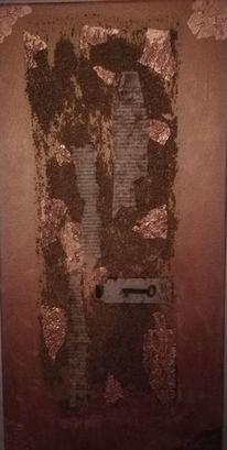 Braun, Kupfer, Abstrakt, Malerei