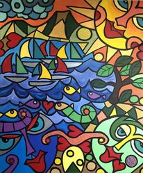 Schiff, Malerei, Tiere, Körper