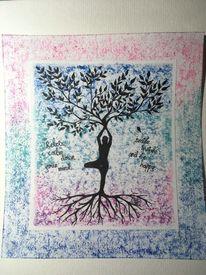 Baum, Meditation, Zitat, Menschen