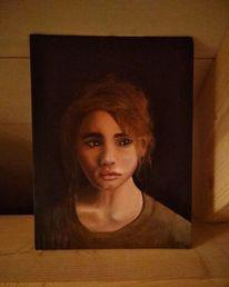Ölmalerei, Malerei, Portrait, Eine frau