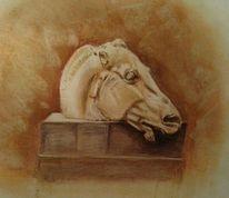 Griechisch, Pferde, Kopf, Zeichnungen