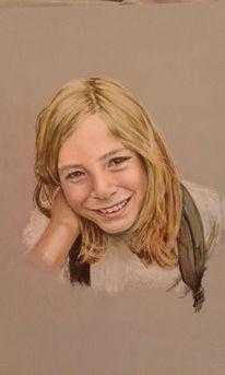 Portrait, Isaak, Pastellmalerei, Zeichnungen