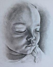 Stanprokopenko, Baby, Kohlezeichnung, Zeichnungen