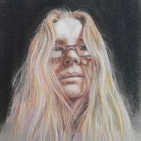Selbstportrait, Strathmore, Pastellmalerei, Zeichnungen