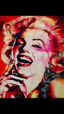 Pop art, Frau, Bunt, Marilyn monroe