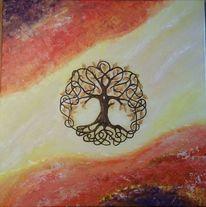 Acrylmalerei, Fantasie, Kraft, Baum