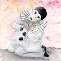 Pierrot, Pantomime, Clown, Harlekin