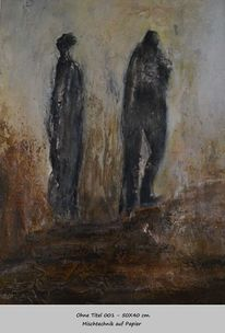 Bewegung, Menschen, Weg, Malerei