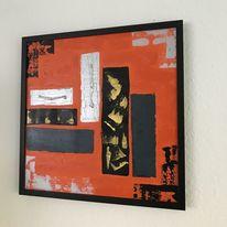 Abstrakt, Gold, Acrylmalerei, Fantasieeffekte