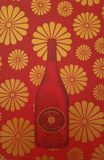 Sekt, Acrylmalerei, Barock, Wein