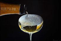 Champagner, Luxus, Weinflasche, Acrylmalerei