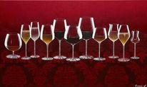 Champagner, Acrylmalerei, Sekt, Weinglas