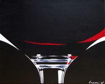 Weinglas, Acrylmalerei, Rotwein, Wein