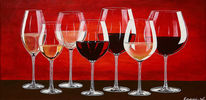 Wein, Acrylmalerei, Rotwein, Weißwein