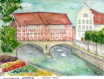 Hafen, Wismar, Hansestadt, Altstadt